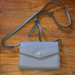 Steve Madden small over the shoulder grey purse